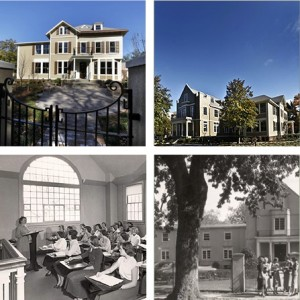 The top pictures show 33 Plymouth Avenue. today The bottom images are from the Gibbs years.